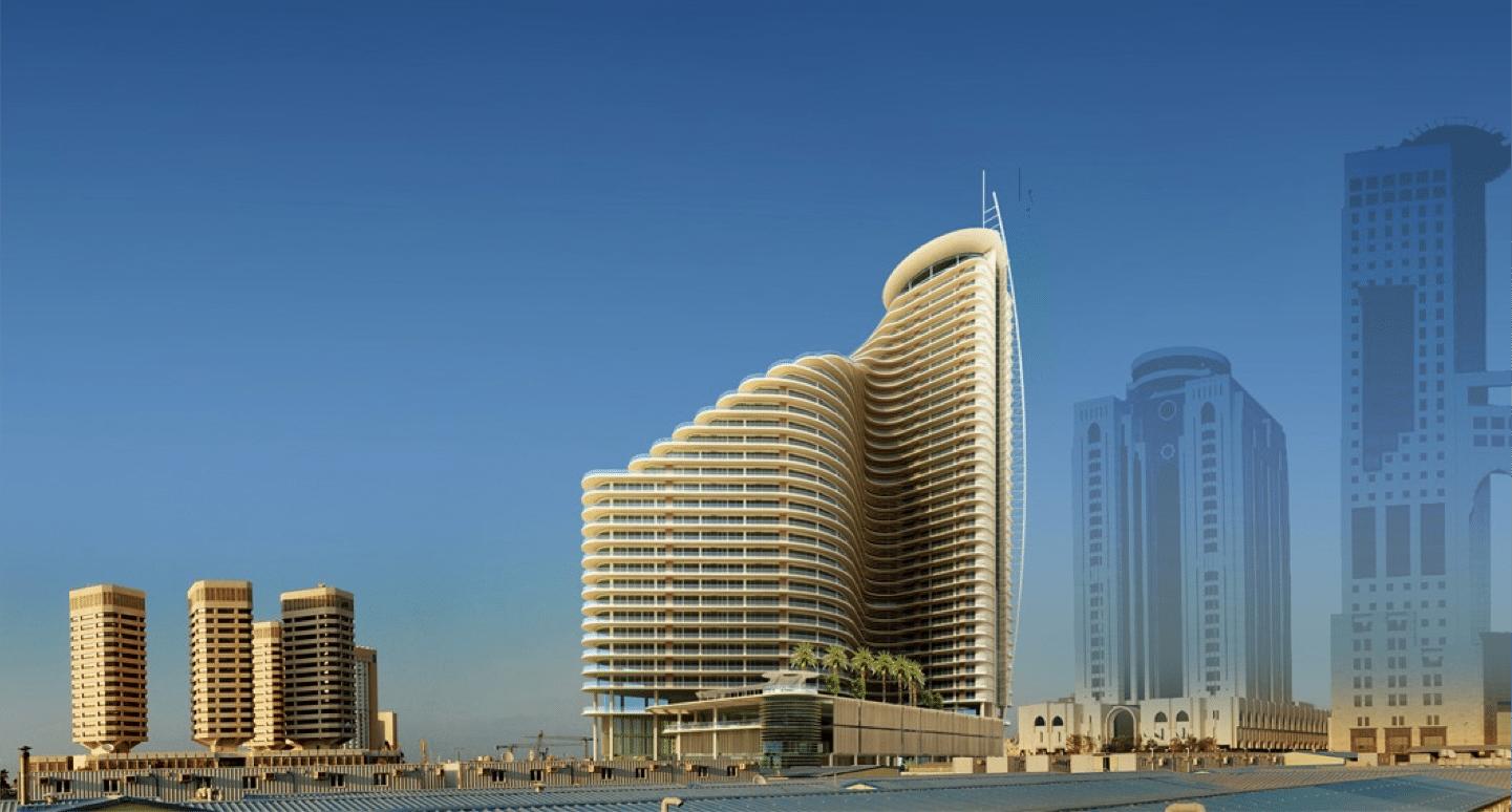 Front elevation - Medina Tower