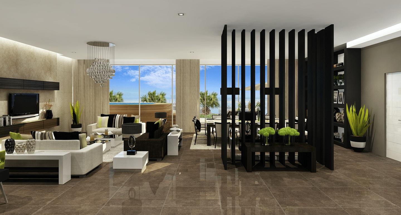 Living area, Sky Apartments - Medina Tower