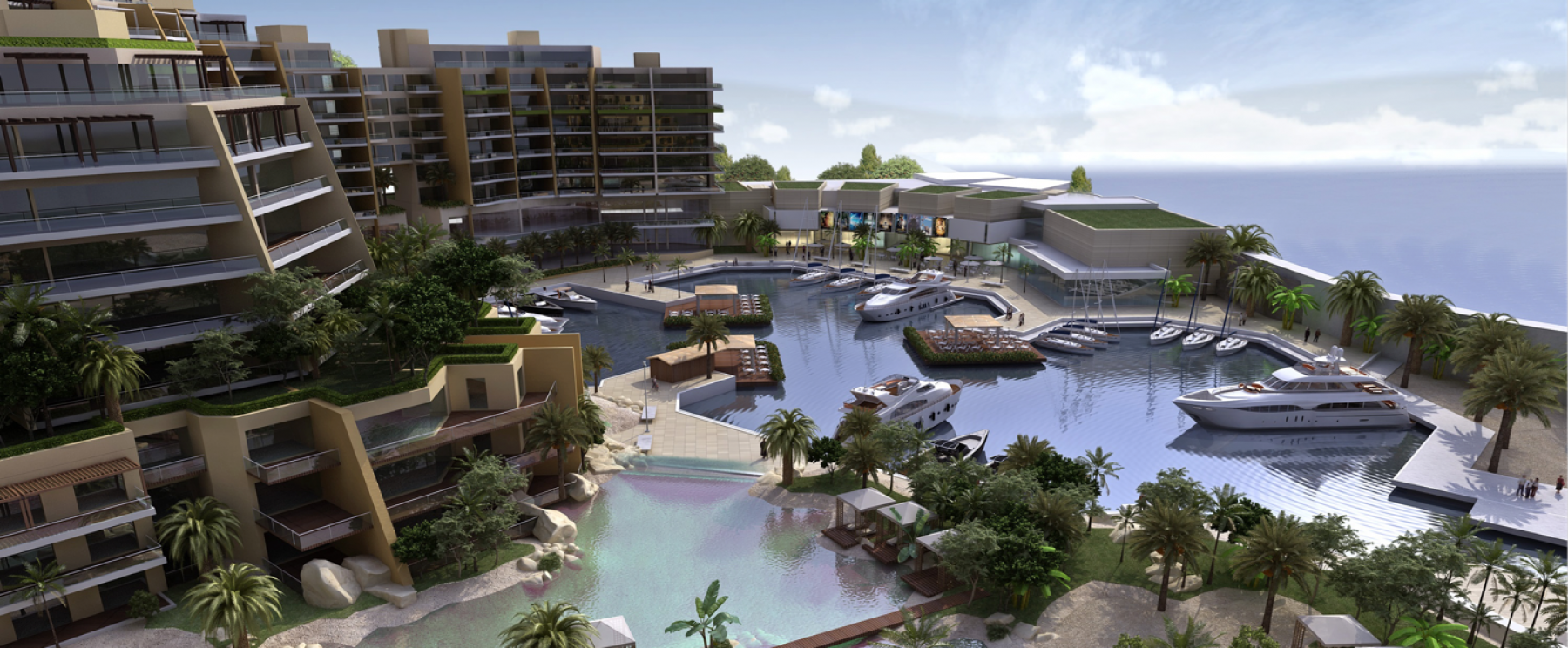 Lagoon & Marina – Palm Waterfront